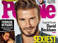 David Beckham en la portada de 'People'