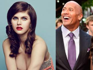 Alexandra Daddario y Dwayne 'The Rock' Johnson