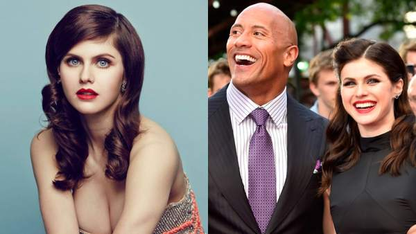 Alexandra Daddario y Dwayne 'The Rock' Johnson