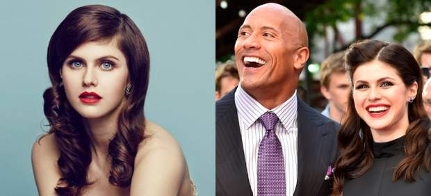 Alexandra Daddario and Dwayne 'The Rock' Johnson