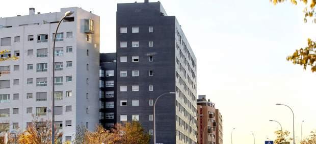 Bloques de vivienda ocupados en el Pau de Vallecas