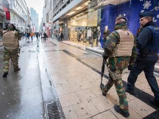 Tiendas cerradas en Bruselas