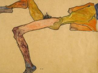 Egon Schiele , Liegender M�nnlicher Akt (Reclining Male Nude)