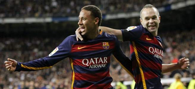 Neymar marca el segundo gol