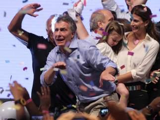 Macri celebra su victoria