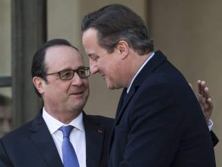 Hollande y Cameron