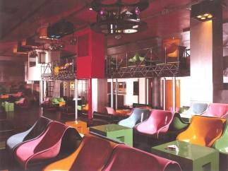 Interior of La Fine del Mondo, designed by Pietro Derossi, Giorgio Ceretti and Riccardo Rosso, Turin, 1966