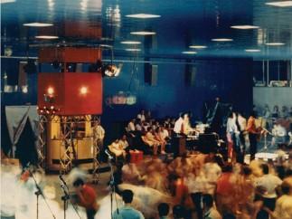 Live music inside L'Altro Mondo, Rimini, 1967