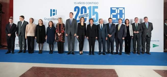 Los Reyes presiden el XV aniversario de 20minutos