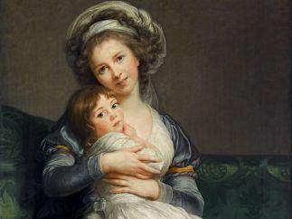 'Portrait de l�artiste avec sa fille, dit � La Tendresse maternelle �', 1786