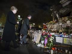 Merkel y Hollande en Par�s