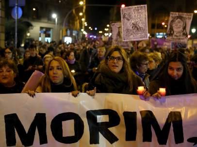 Manifestaciones contra la violencia machista España 2015.