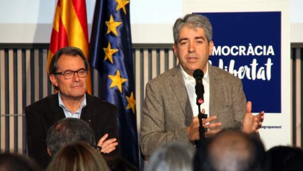 Artur Mas y Francesc Homs, candidato de Democràcia i Llibertat para el 20D.