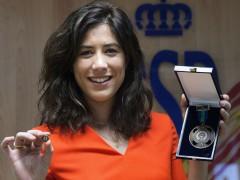 Garbi�e Muguruza recibe la medalla de bronce al M�rito Deportivo