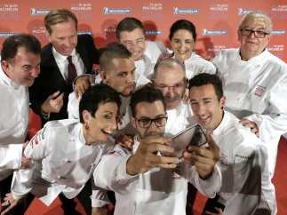 Chefs espa�oles con tres estrellas Michelin