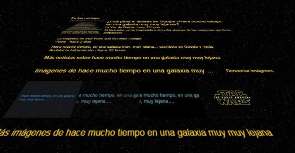 google homenajea a star wars con hace mucho tiempo en una