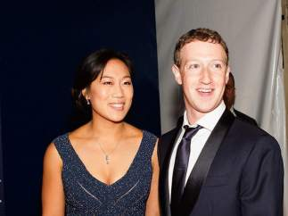 Mark Zuckerberg y su esposa