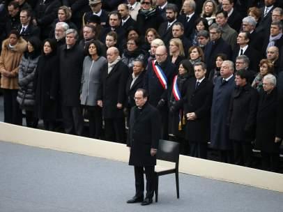 Hollande en el homenaje a las v�ctimas del 13N
