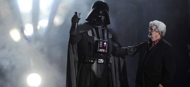 George Lucas junto a Darth Vader