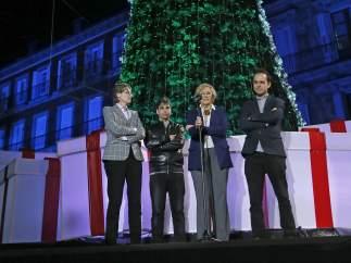 CARMENA ENCIENDE LAS LUCES DE NAVIDAD DE MADRID DESDE LA PLAZA MAYOR