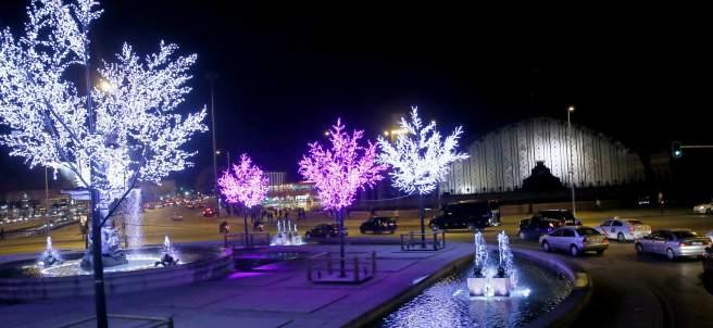 Plaza Carlos V de Madrid, junto a la estaci�n de Atocha
