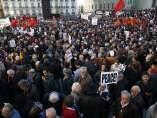 Protesta contra la intervención militar en Siria