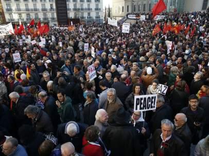 Protesta contra la intervenci�n militar en Siria