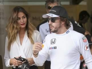 Lara �lvarez y Fernando Alonso