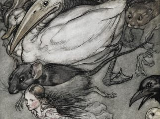 Illustration of Alice from the Arthur Rackham illustrated edition of Alice's Adventures in Wonderland, 1907