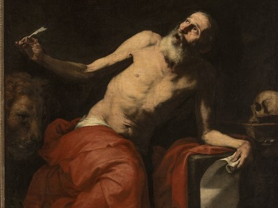 José de Ribera (1591–1652) - Saint Jerome and the Angel, 1626