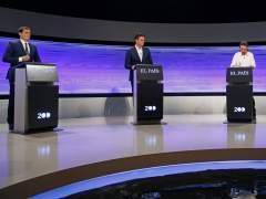 Rivera, S�nchez e Iglesias celebran su primer debate junto al atril vac�o de Rajoy
