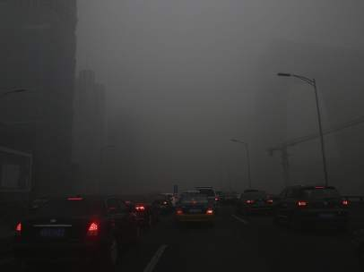 Coches y contaminación Pekín (CHINA)