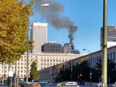 Controlado el incendio declarado en un edificio del complejo financiero de Azca