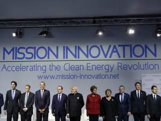 Asistentes a la cumbre del clima de París