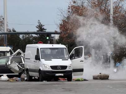 Explosi�n controlada en el aeropuerto de Sof�a