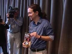 Pablo Iglesias en la presentaci�n de su libro