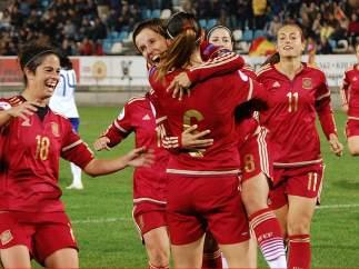 Gol de la selección española femenina
