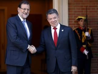 Encuentro de Santos y Rajoy