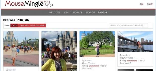 Web de citas de fans de Disney