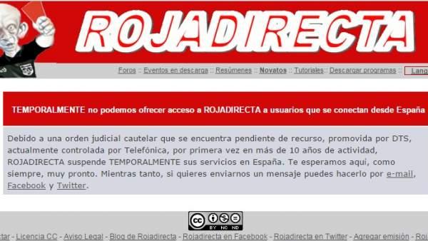 Rojadirecta cumple una semana cerrada pero los enlaces siguen activos en  otras webs 31043537df7bd