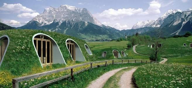 Casas al estilo 'hobbit'