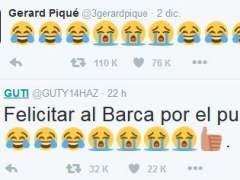Tuits cruzados entre Guti y Piqué.