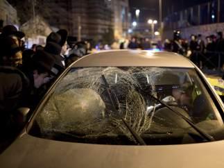 Ataque palestino a un vehículo