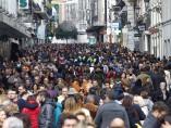 El centro de Madrid, colapsado
