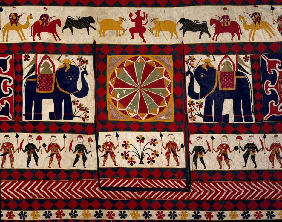 Exponen 18 siglos de la suntuosa artesan a textil de la india - Telas de la india online ...