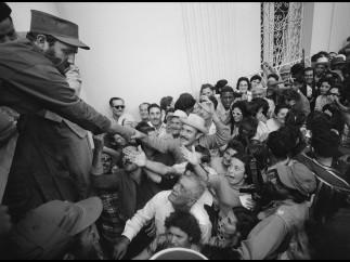 Llegada a La Habana de Castro