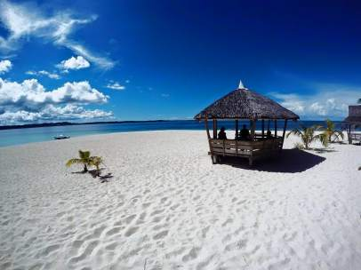 Playa en Siargao, en Filipinas