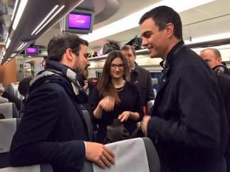 Encuentro entre Sánchez y Garzón