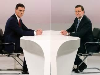 Debate entre Pedro Sánchez y Rajoy