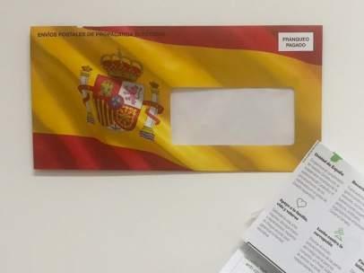 Propaganda electoral de Vox con la bandera de España